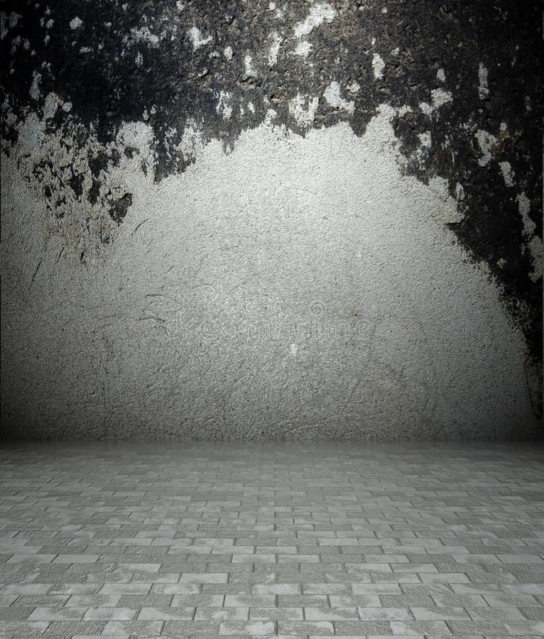 Download 3d Concrete And Plaster Texture, Empty Interior Stock Illustration - Image: 23220175