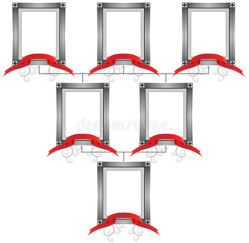 3D Connected Frames stock illustration