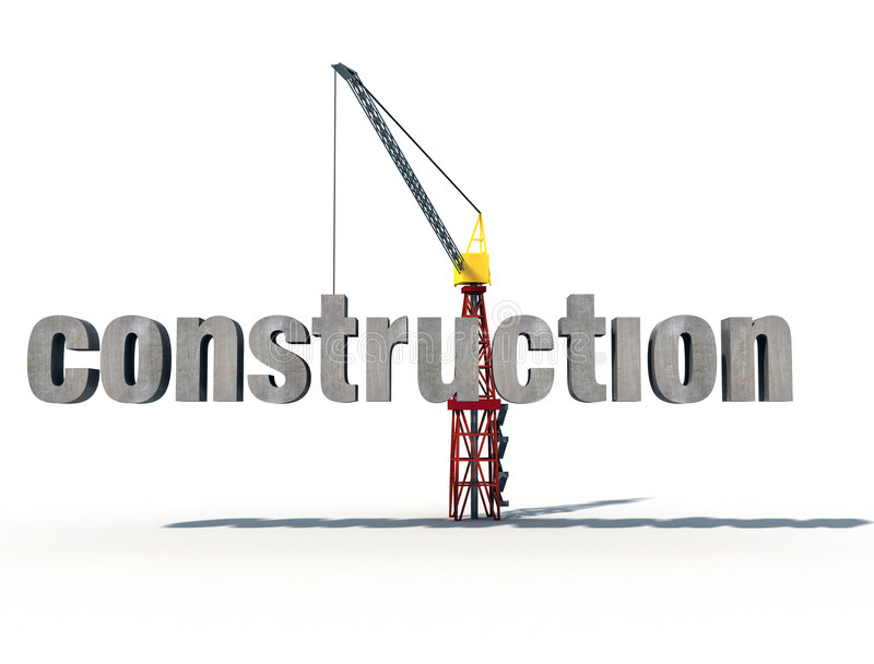 Download 3d construction stock illustration. Image of background - 4698908