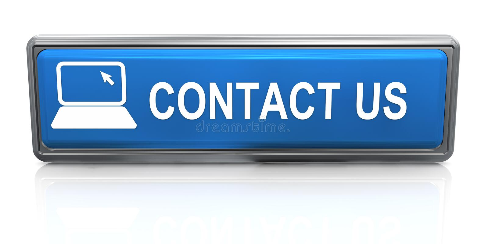 Download 3d Contact Us Button Stock Photo - Image: 25668440