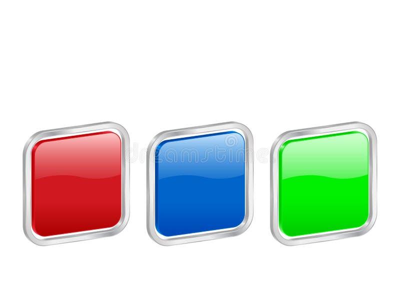3d contou被舍入的正方形 库存例证