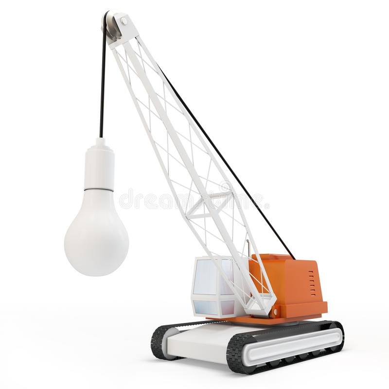 3d Crane With Lamp Stock Images