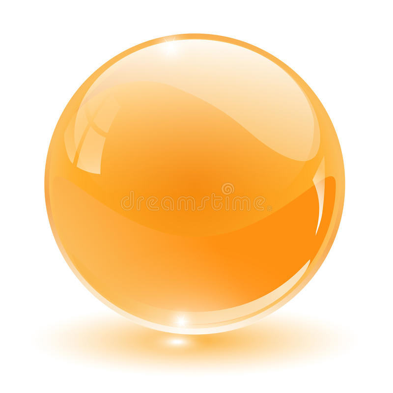3D cristal, esfera de vidro ilustração do vetor
