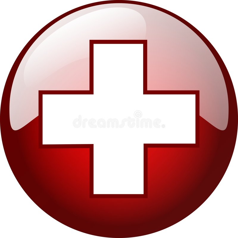 3d cross button royalty free stock photo