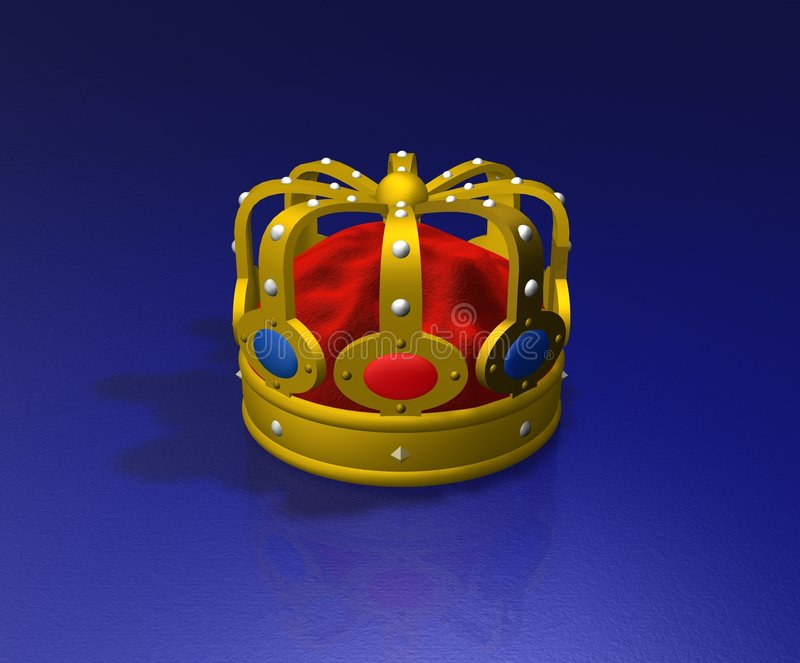 3d Crown stock illustration