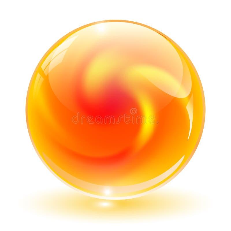 3D crystal, glass sphere, vector. vector illustration