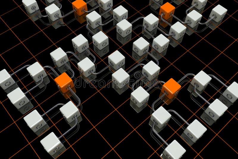 3D cuba o fundo ilustração stock
