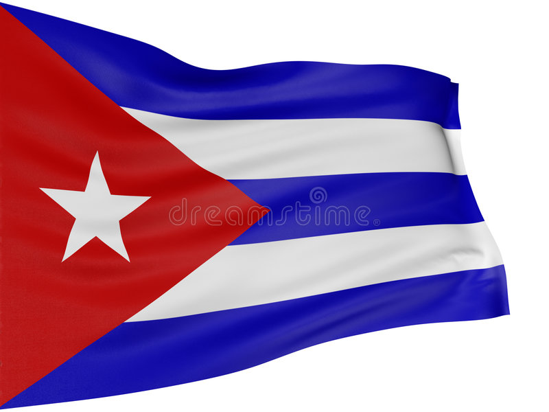 3D Cuban flag royalty free illustration