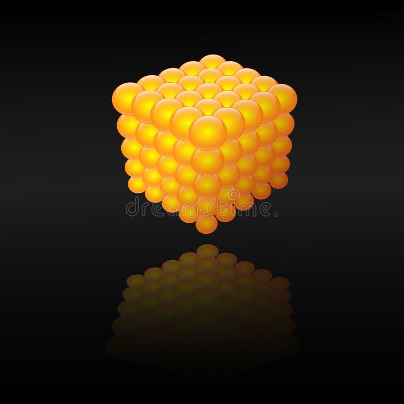 3d cube stock image