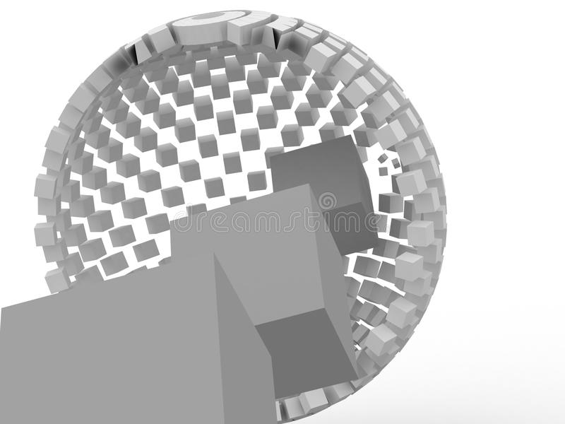Download 3d cube stock image. Image of construction, gray, dimensional - 17427011