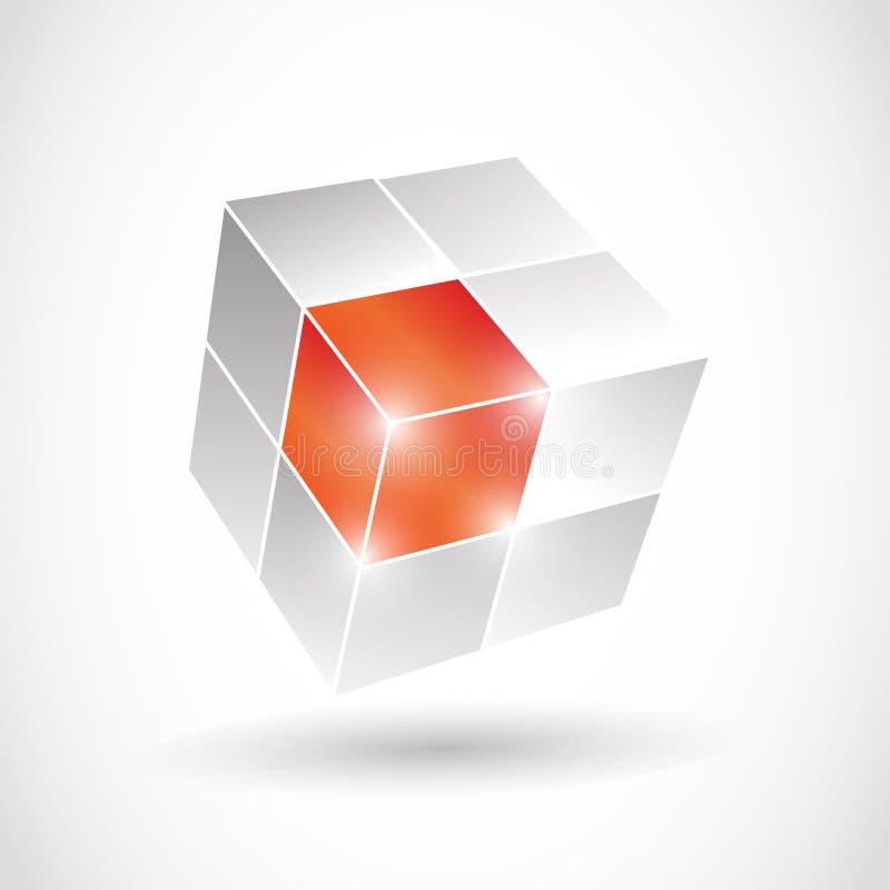 3D Cube royalty free illustration