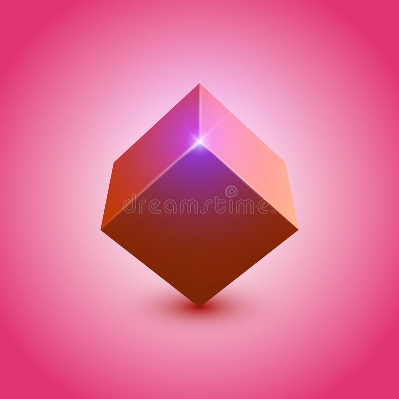3d cube. 3d shiny colorful cube; EPS10 vector vector illustration