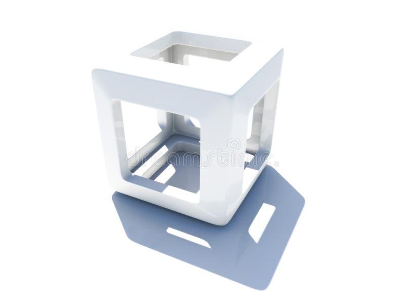 3D cube royalty free stock photo