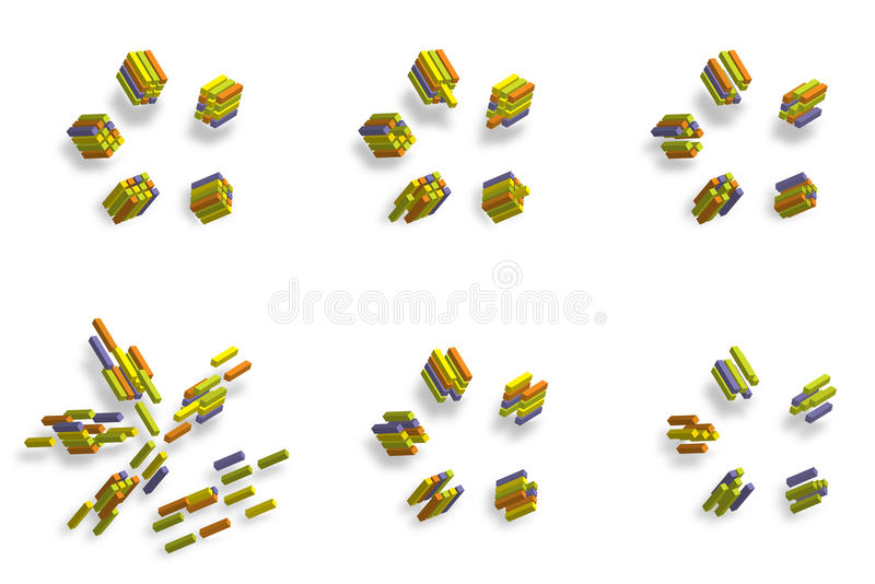 3D Cube_abstract Illustration Stock Photo
