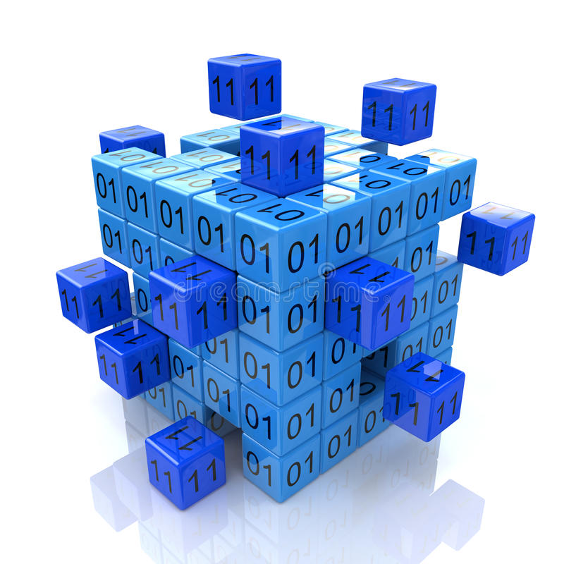 3d cube code royalty free stock images