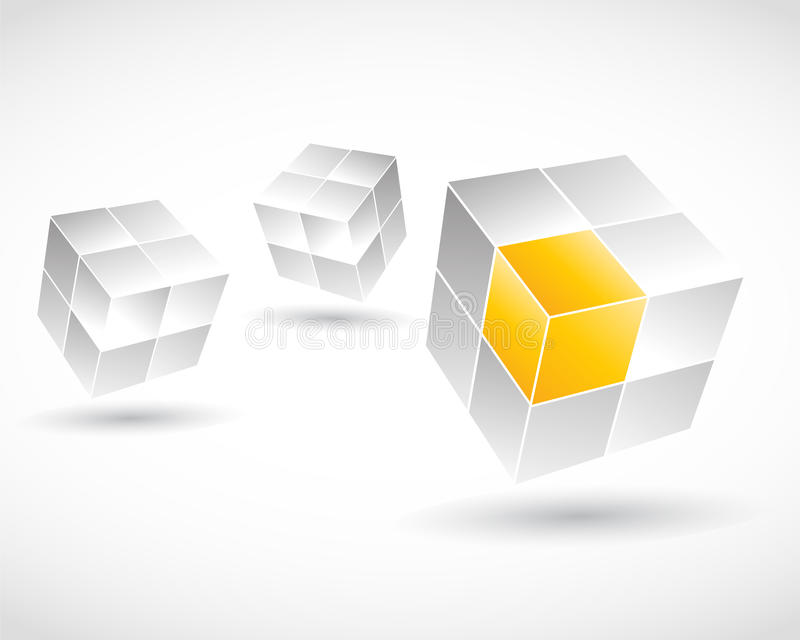 3D Cube Concept vector illustration