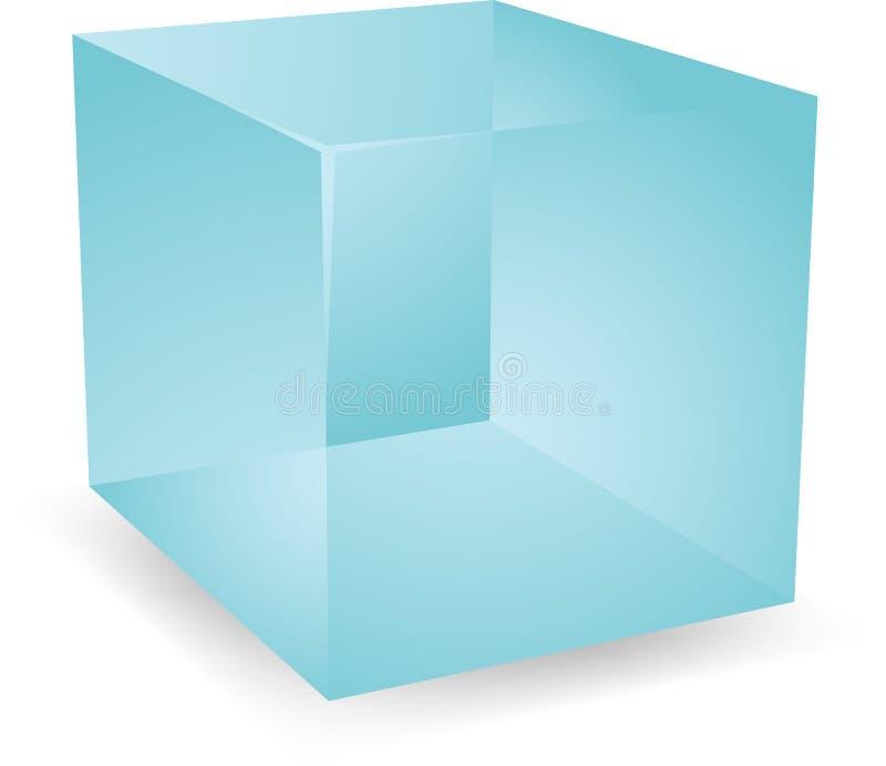 3d cubes просвечивающее иллюстрация вектора