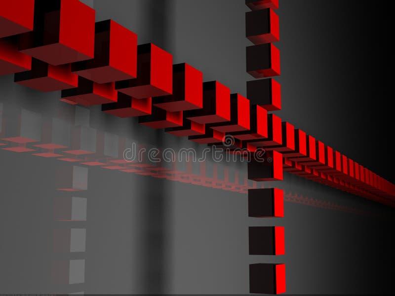 3d cubes рядок иллюстрация вектора