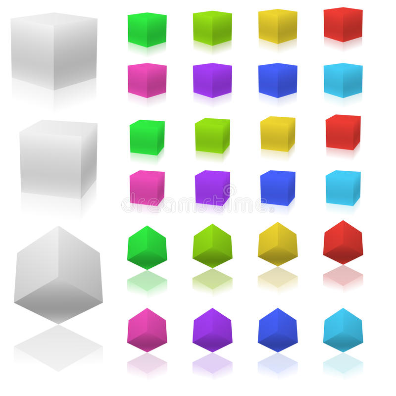 Download 3D cubes stock vector. Image of cube, cubes, blank, background - 10781390