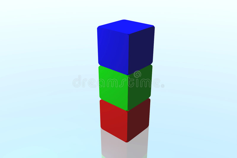 Download 3d Cubes stock illustration. Image of colorful, cube, education - 1387776