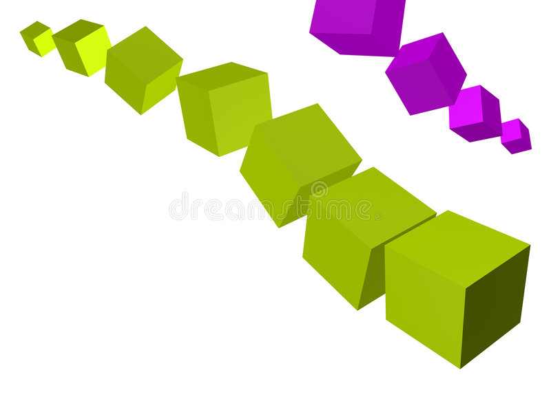 3D Cubes stock illustration