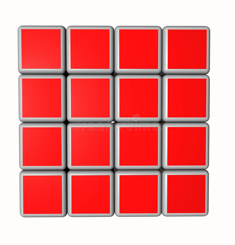 Free 3d Cubes In Red And Isolated On A White Background Royalty Free Stock Images - 17364209
