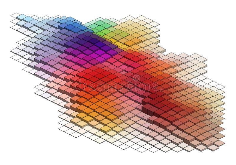 3d cubi, fondo di vettore royalty illustrazione gratis