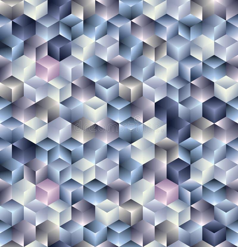 3d cubica el modelo inconsútil. ilustración del vector