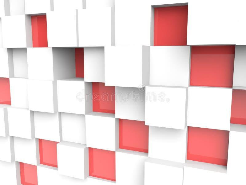 3d cubica rompecabezas en el fondo blanco stock de ilustración