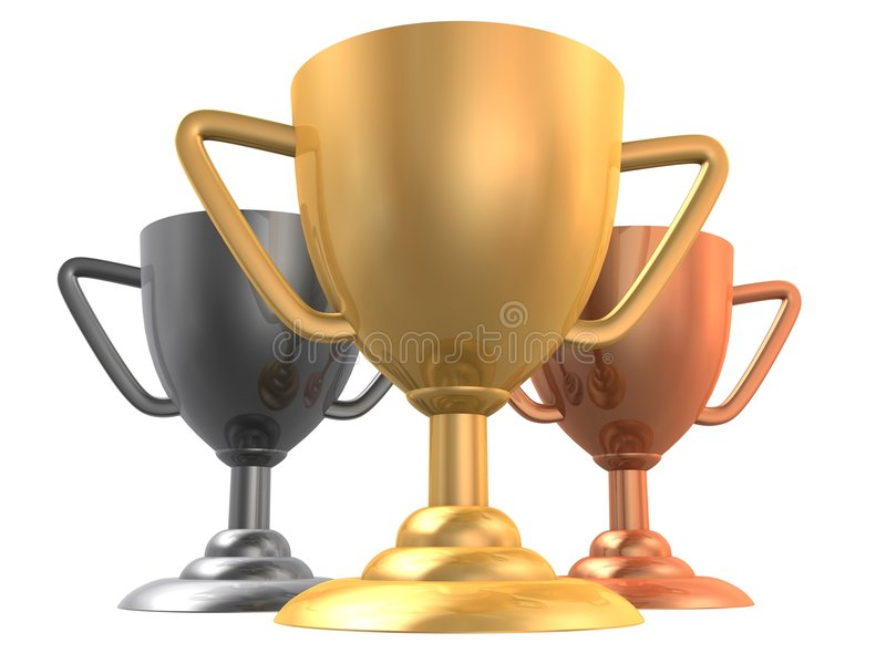 3d cups royalty free illustration