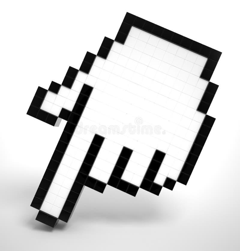 3D Curseur van de Hand stock illustratie
