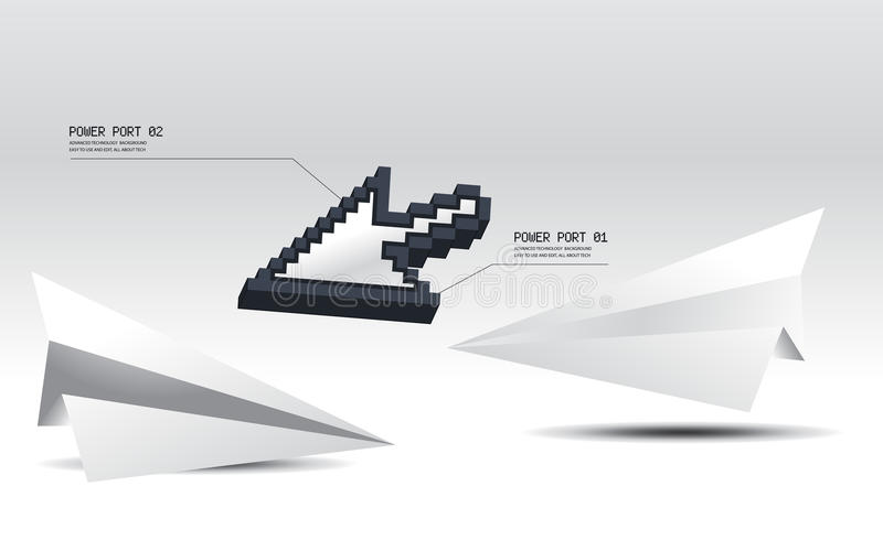 Download 3d cursor stock vector. Image of mouse, grid, link, black - 15949996