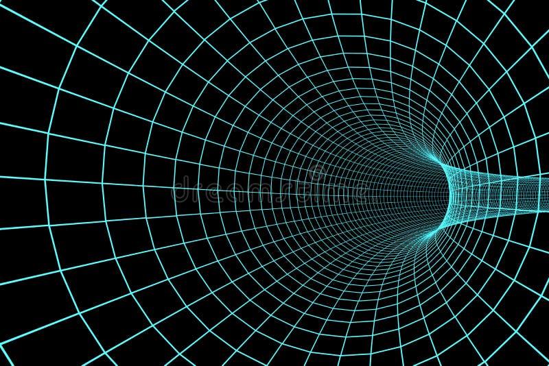 3d cyfrowy tunel ilustracja wektor