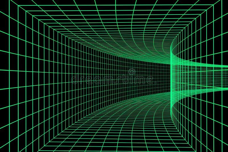 3d cyfrowy tunel ilustracji