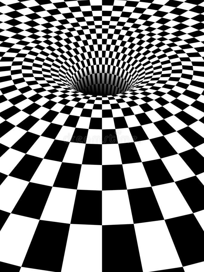 3d czarny dziury vortex ilustracja wektor