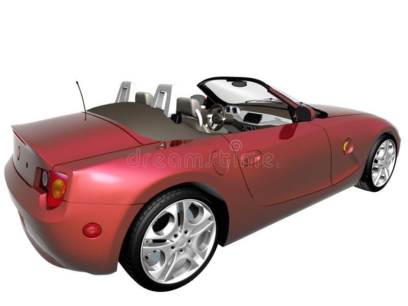 3d czerwieni samochód zdjęcia stock