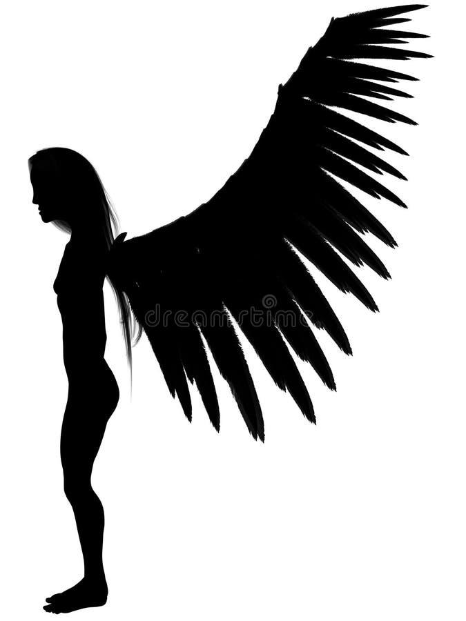 Download 3D dark angel. stock illustration. Illustration of bright - 6508571