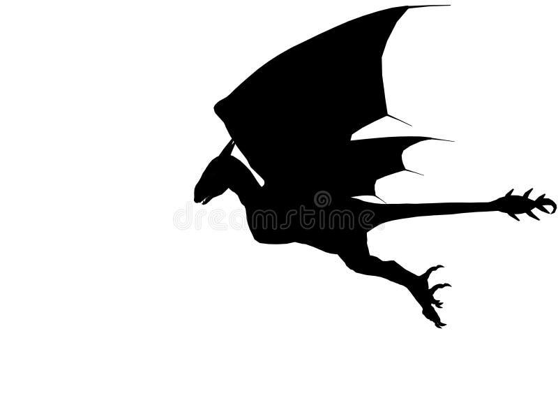 3D dark dragon. royalty free stock photo