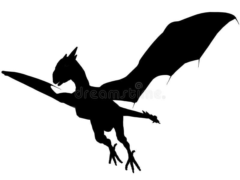 3D dark dragon. royalty free stock images