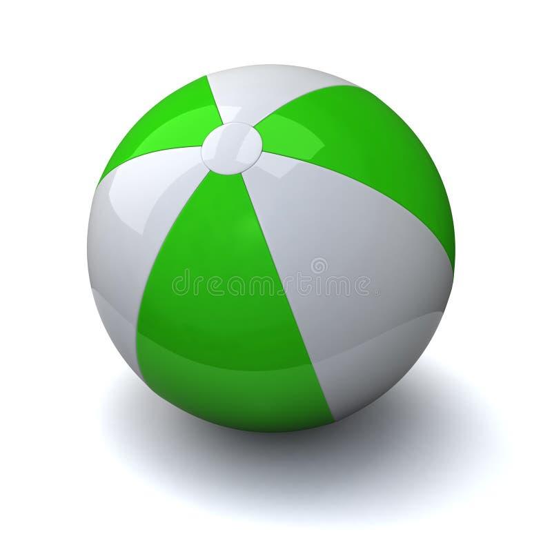 3d de bal van Beac stock illustratie