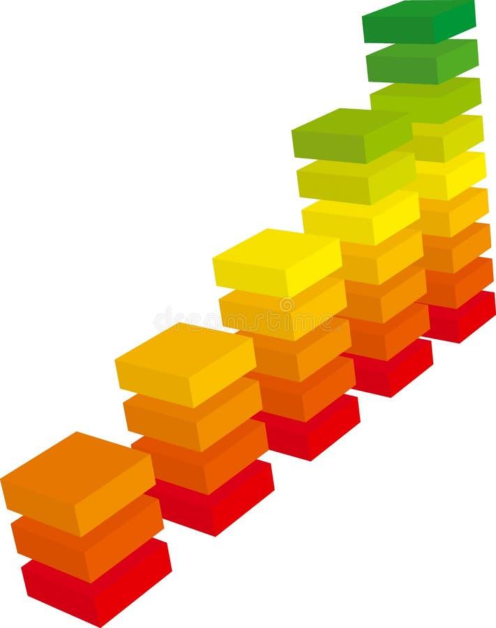 3d de Grafiek van de kleur stock illustratie