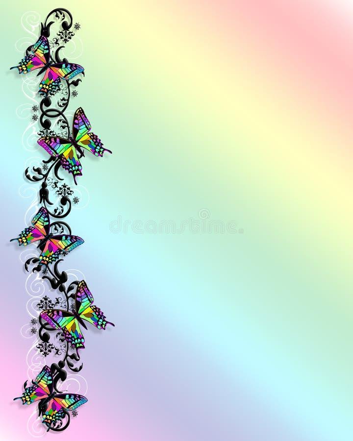3D de Grens van de Vlinder van de regenboog vector illustratie