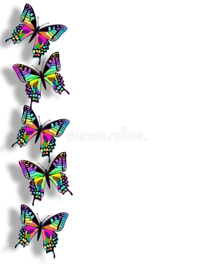 3D de Grens van de Vlinder van de regenboog royalty-vrije illustratie