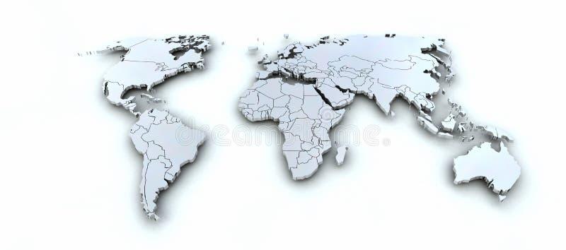 3d de kaart van de aarde royalty-vrije illustratie