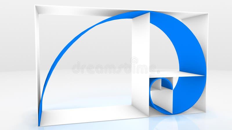 3D de ketting van Fibonacci royalty-vrije illustratie
