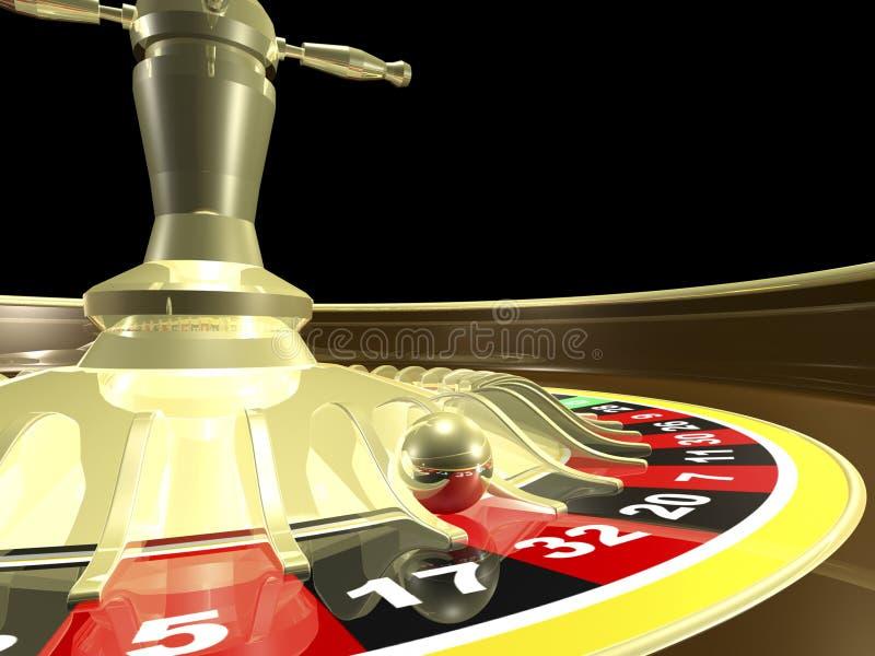 3D de lijst van de roulette geeft terug vector illustratie