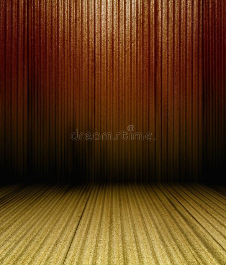 3d de panelenmuur van het grungemetaal royalty-vrije illustratie