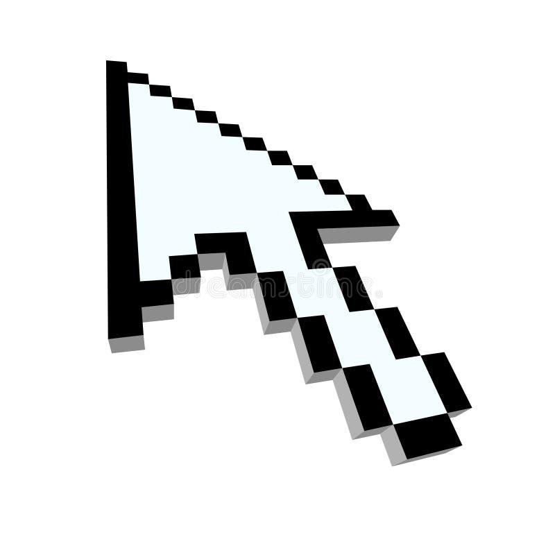 3d de pijlcurseur van de computer vector illustratie