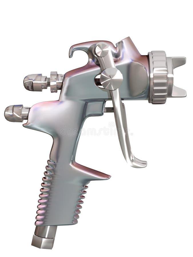 3d de schilder van het pistool vector illustratie