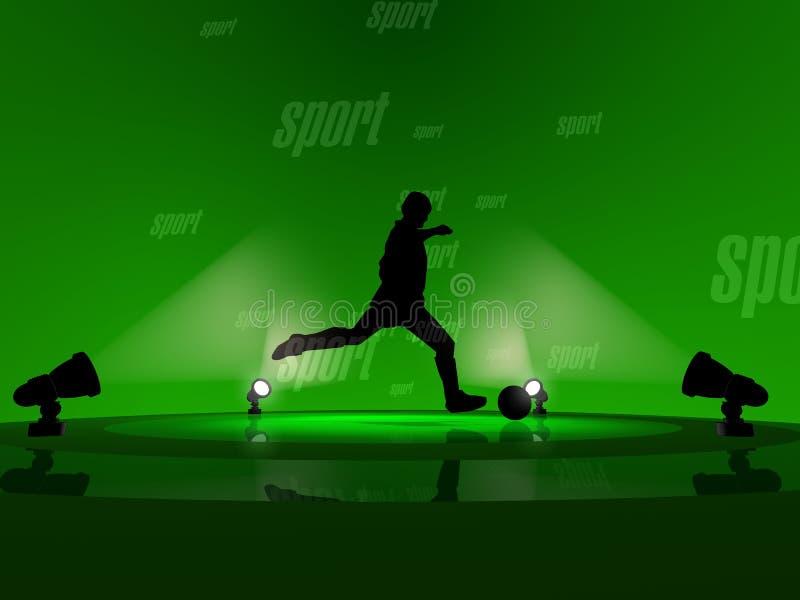 3D de Sport van het voetbal geeft terug royalty-vrije stock foto
